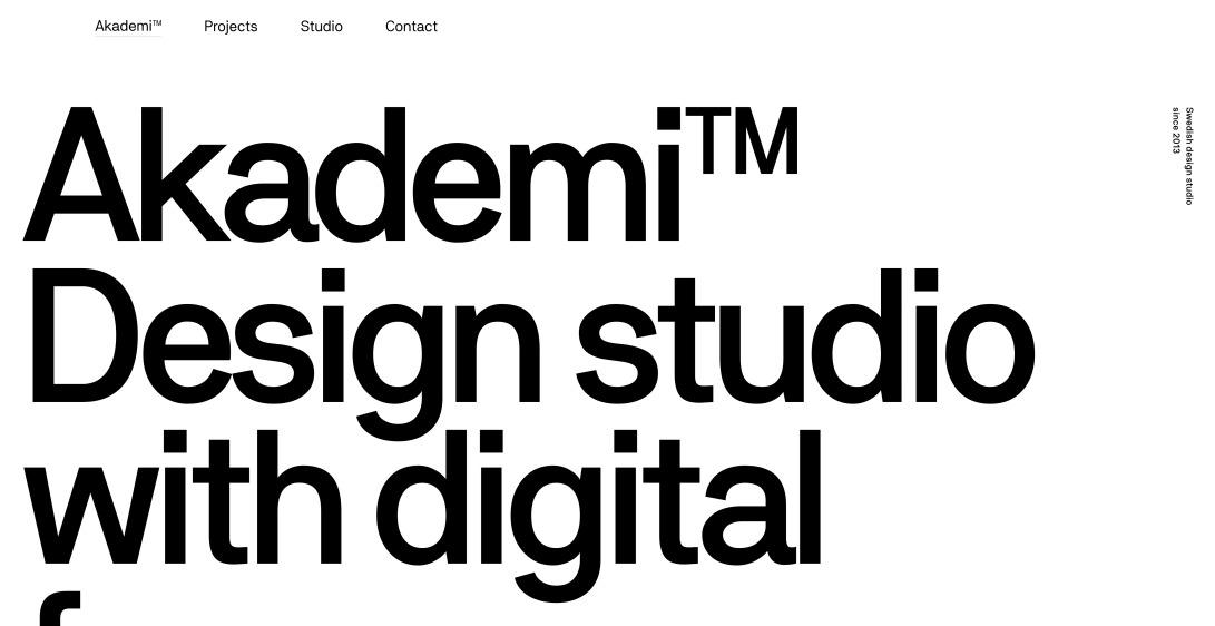 Akademi™ – Design studio with digital focus