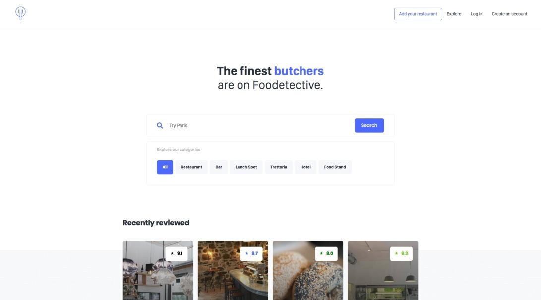 Foodetective · We investigate, you enjoy