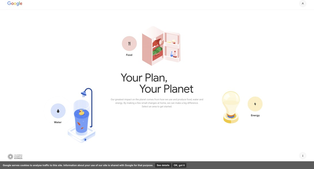 Your Plan, Your Planet - Home page