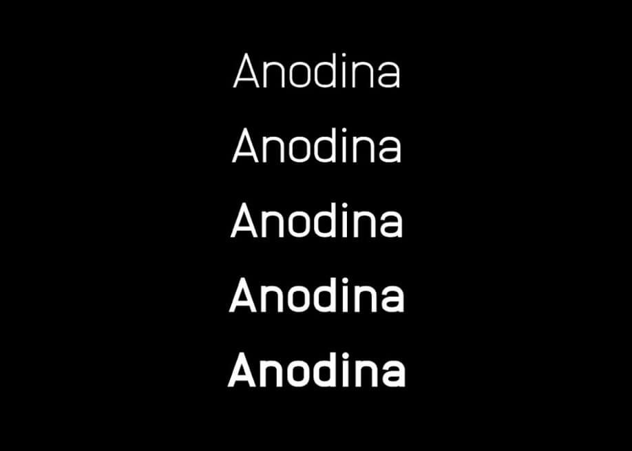 Anodina Free font