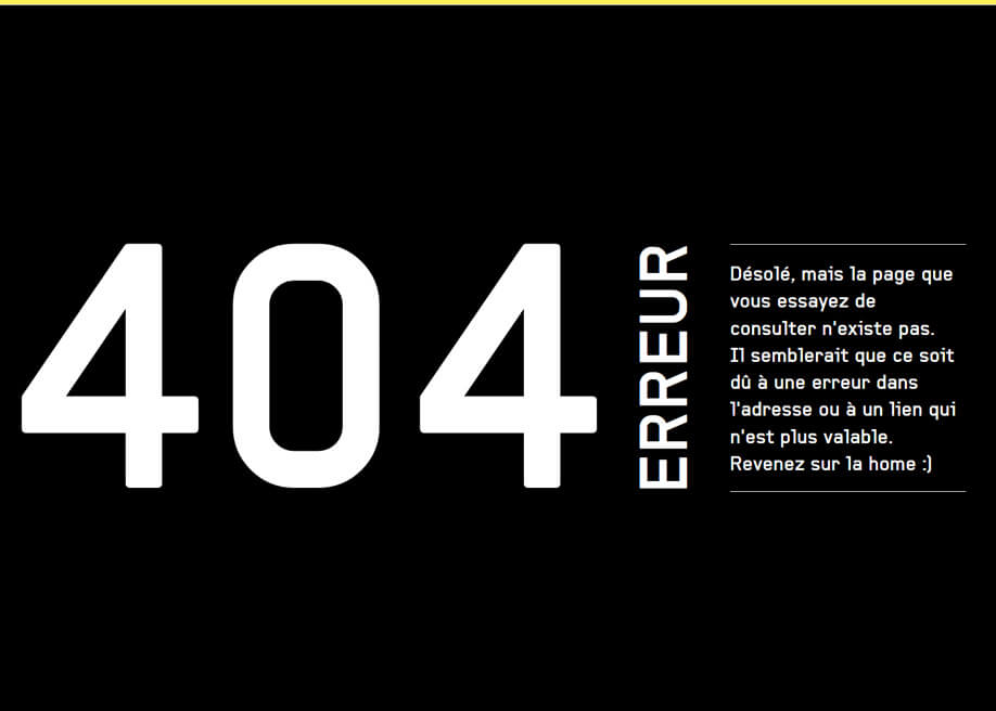 Agence 404 error page