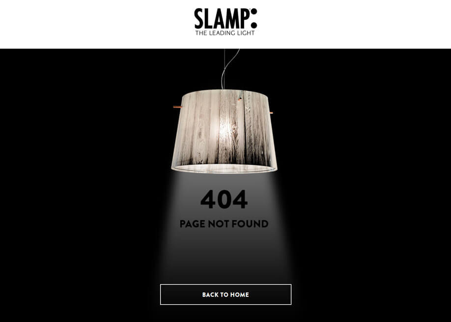 Slamp 404 error page