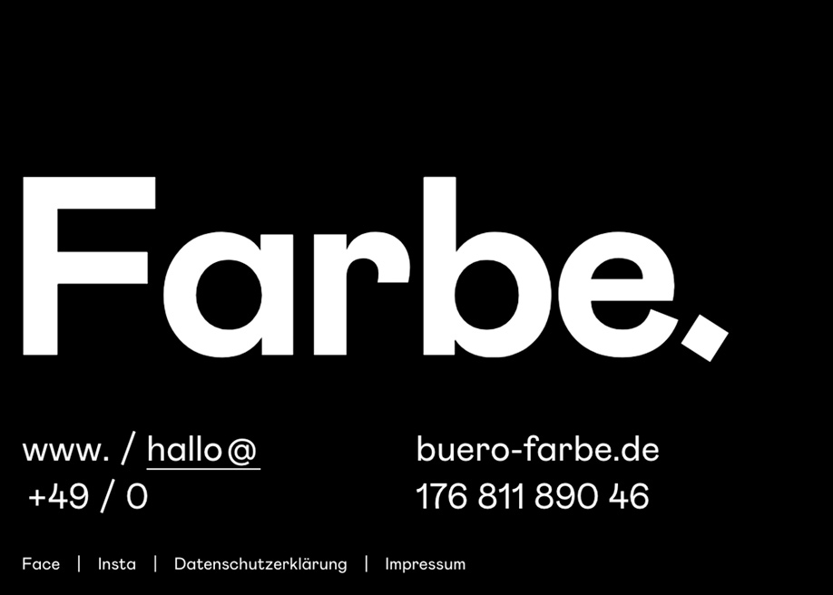 Farbe footer design