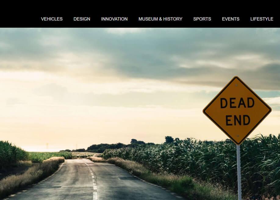 Mercedes Benz 404 error page