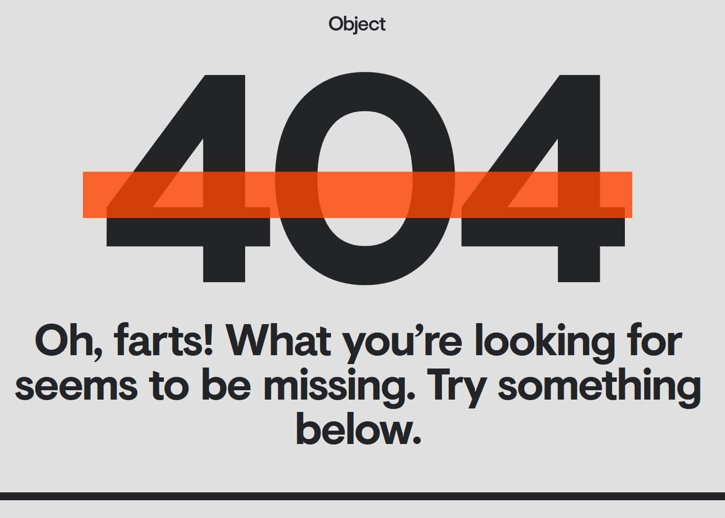 Object Design 404 error page
