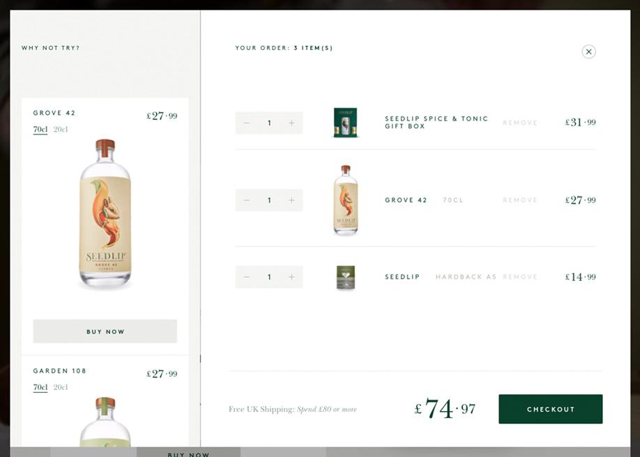 Non-alcoholic spirits online store