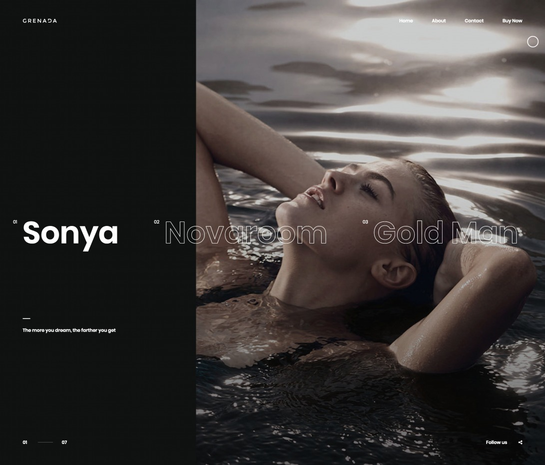 Grenada - Creative Showcase Portfolio Template