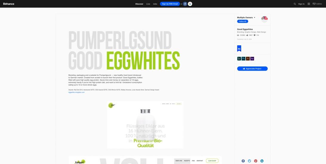 Good Eggwhites on Behance