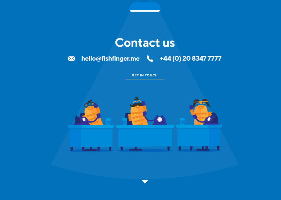 Fishfinger contact page