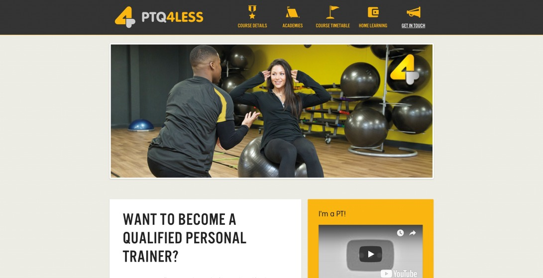 Become a Personal Trainer | Personal Training Qualifications - PTQ4Less