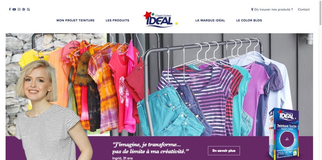 Ideal : Teintures pour vêtements et détachants textiles et tissus