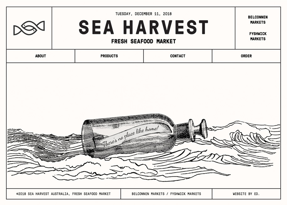 Fresh seafood 404 error page