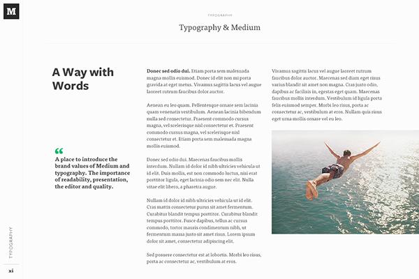 Medium Brand Development on Behance