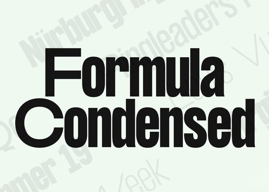 Formula Condensed font