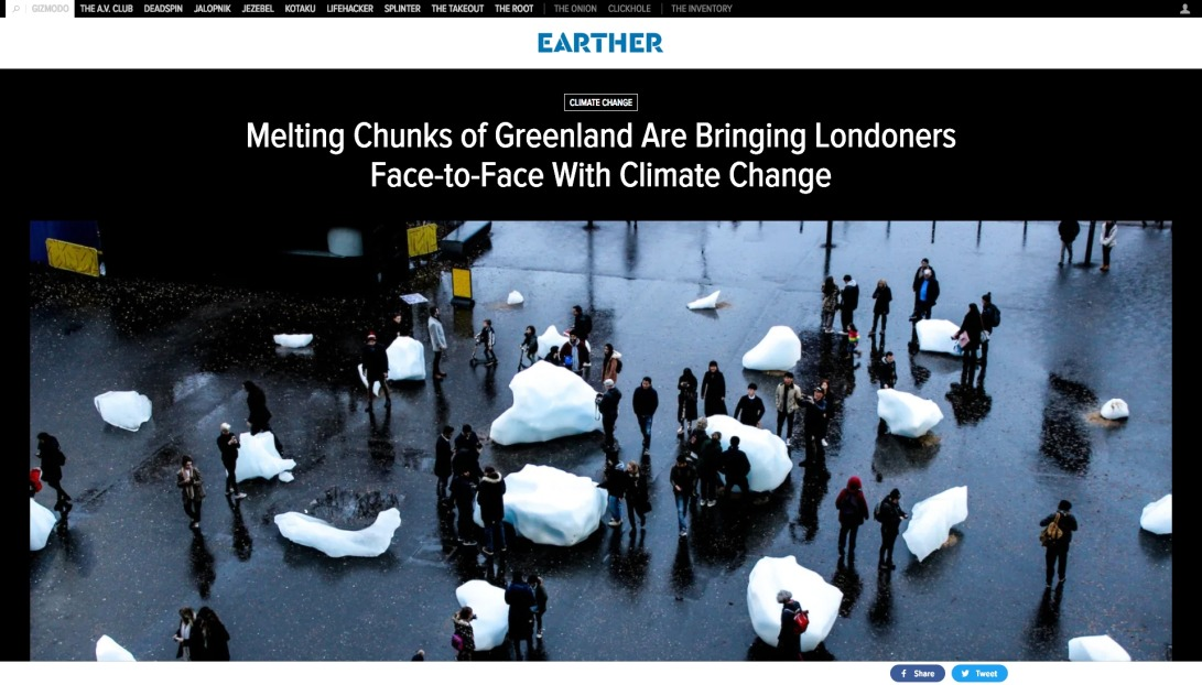 Melting Chunks of Greenland Are Bringing Londoners Face-to-Face With Climate Change