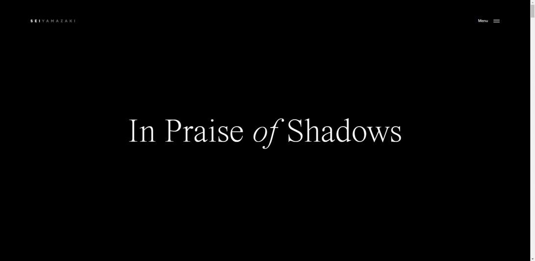In Praise of Shadows - Sei Yamazaki