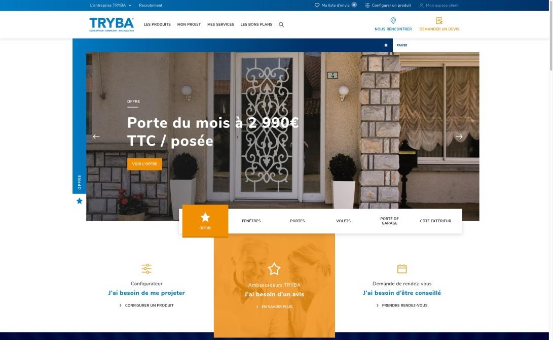 Tryba, fabricant de Fenêtres PVC