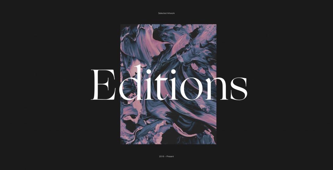 Editions — Jordan Sowers — Jordan Sowers