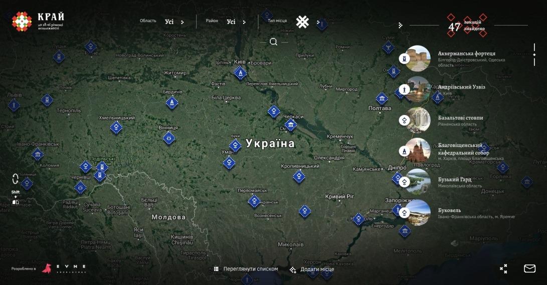 Визначні місця України