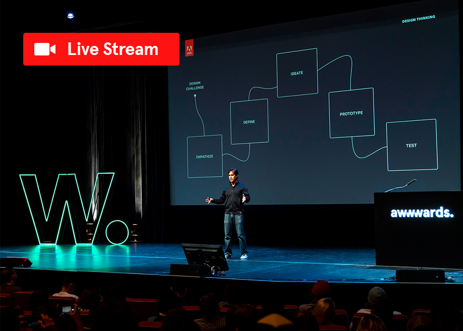Adobe Live from Awwwards Conference Amsterdam. Register for free!