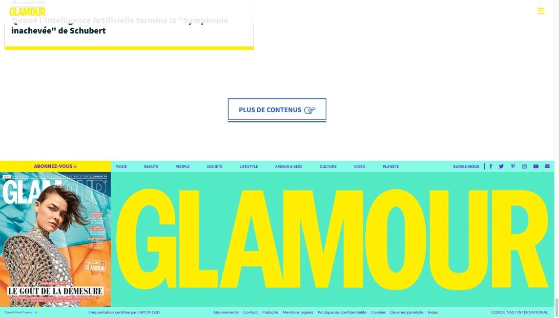 Magazine pop et engagé : société, mode, beauté, culture | Glamour