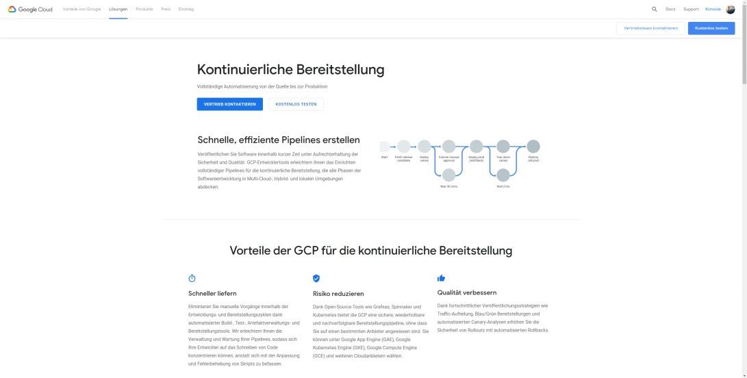 Kontinuierliche Bereitstellung | Google Cloud