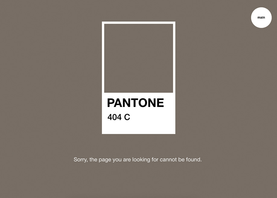 404 error page - Pantone
