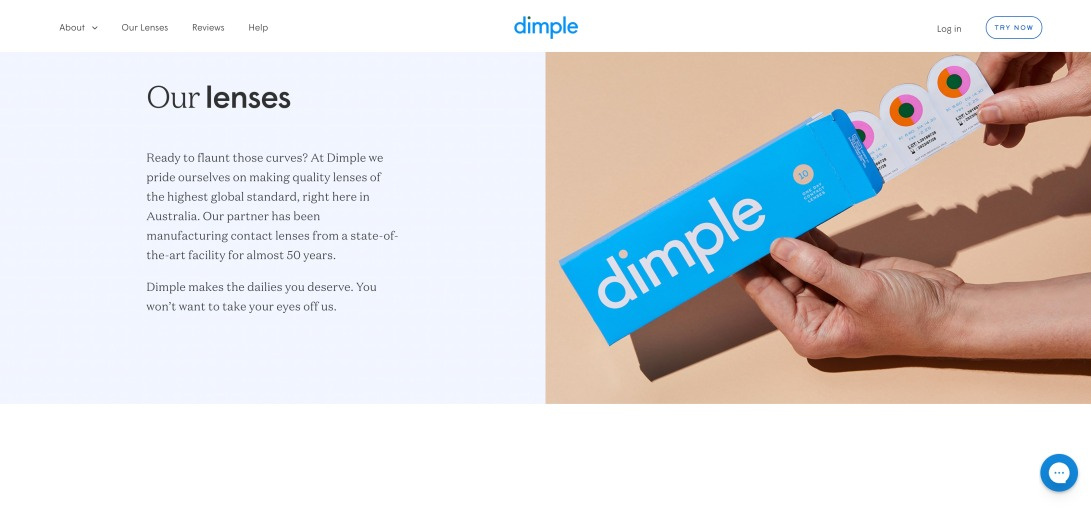 Daily Disposable Contact Lenses | Try Free for 10 days – Dimple