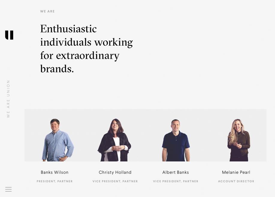 Team page - Union