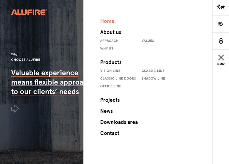 Overlay menu - Alufire