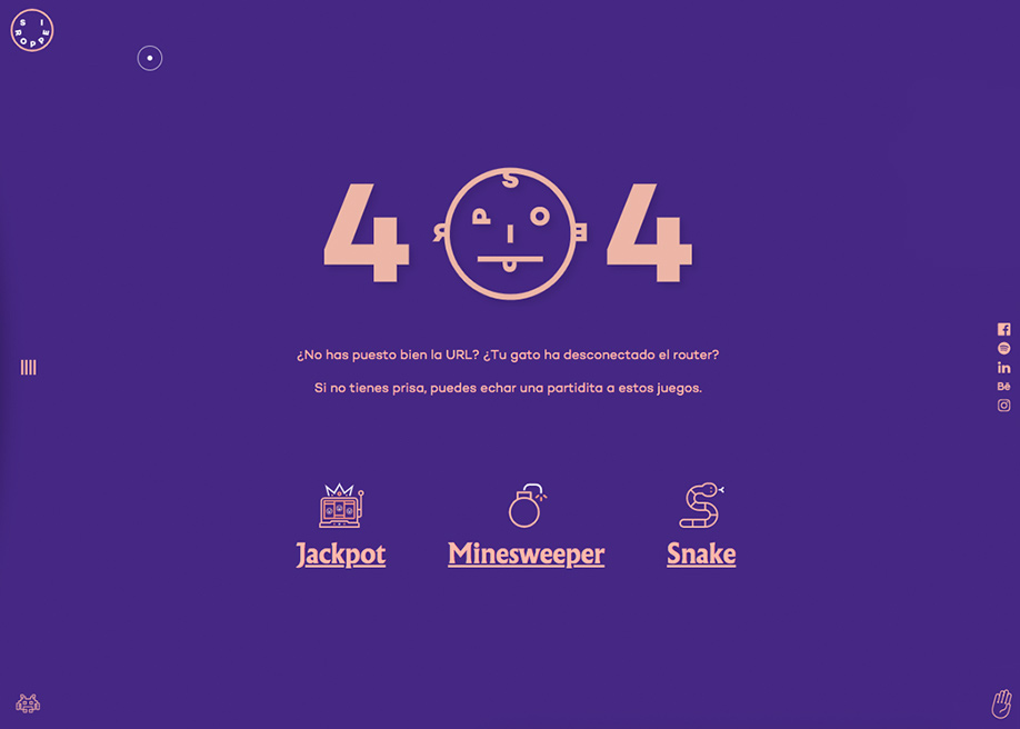 404 error page - Siroppe