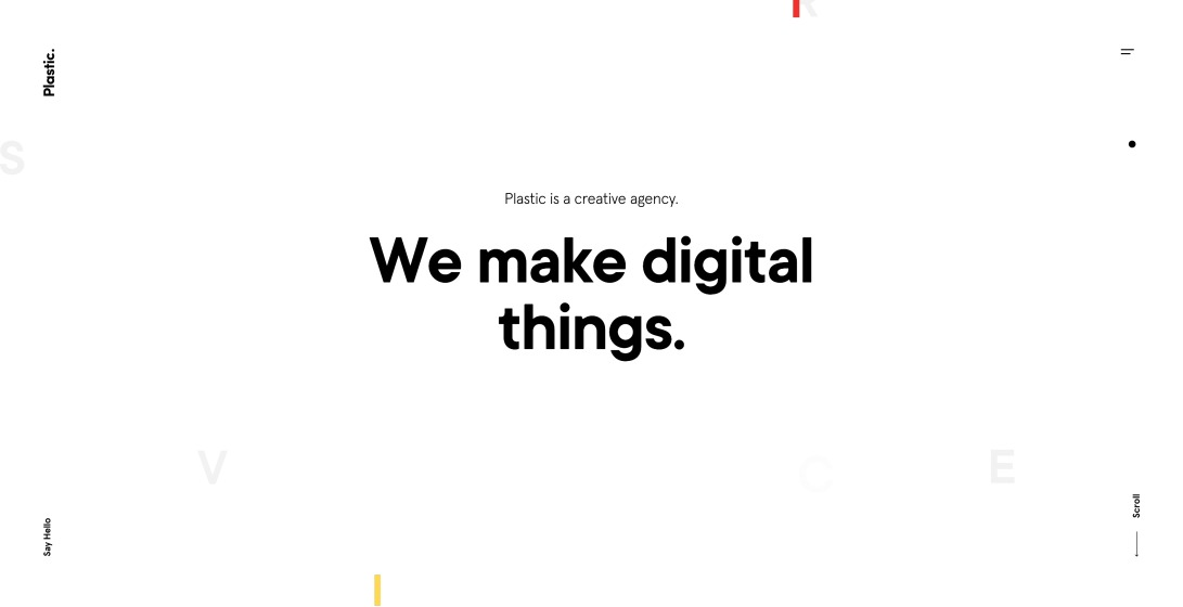 Plastic. Digital products and services.
