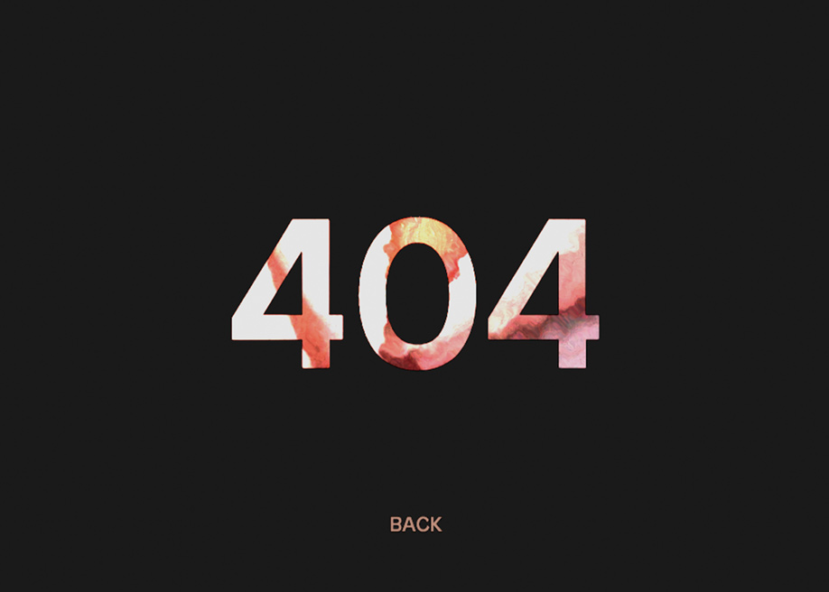 404 error page - Ricky Michiels
