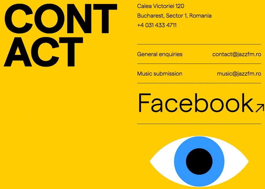 Typographic contact page - Jazzfm