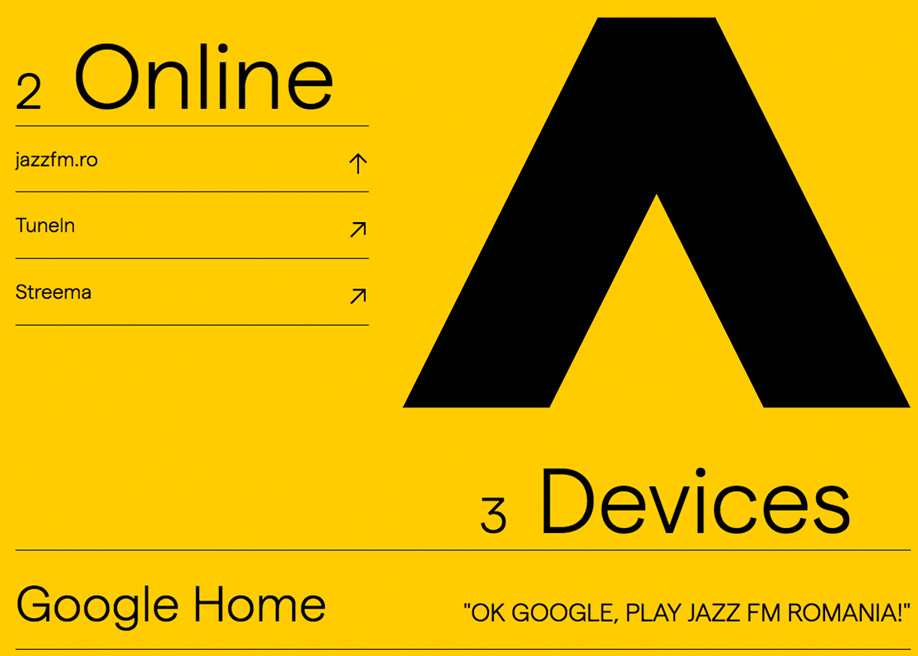 Jazz Fm radio one page website