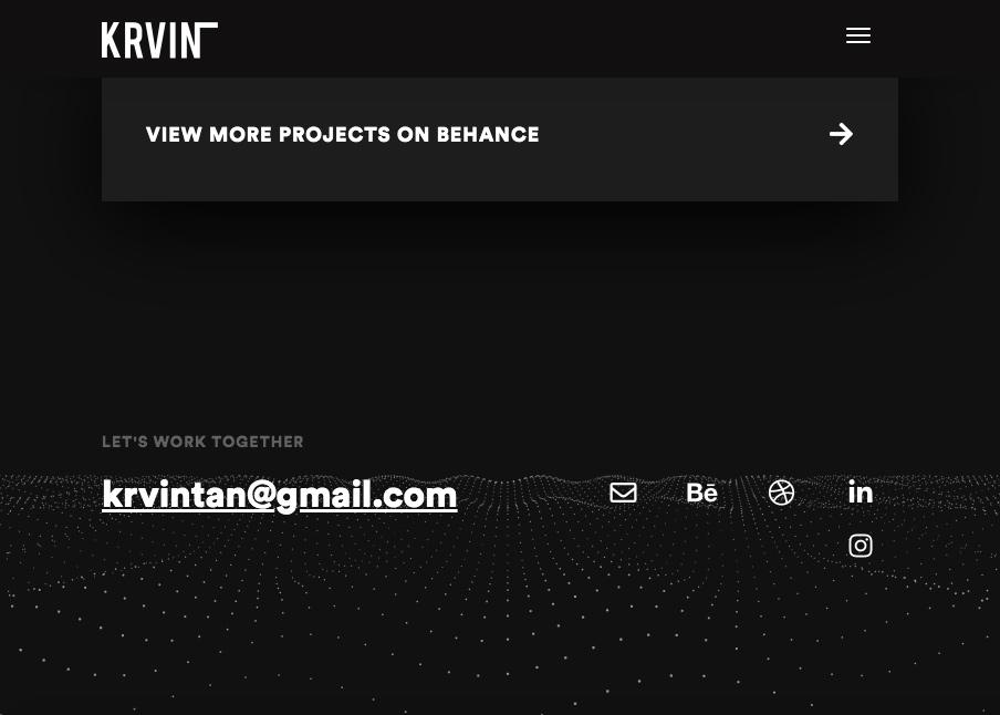 Footer design - KRVIN