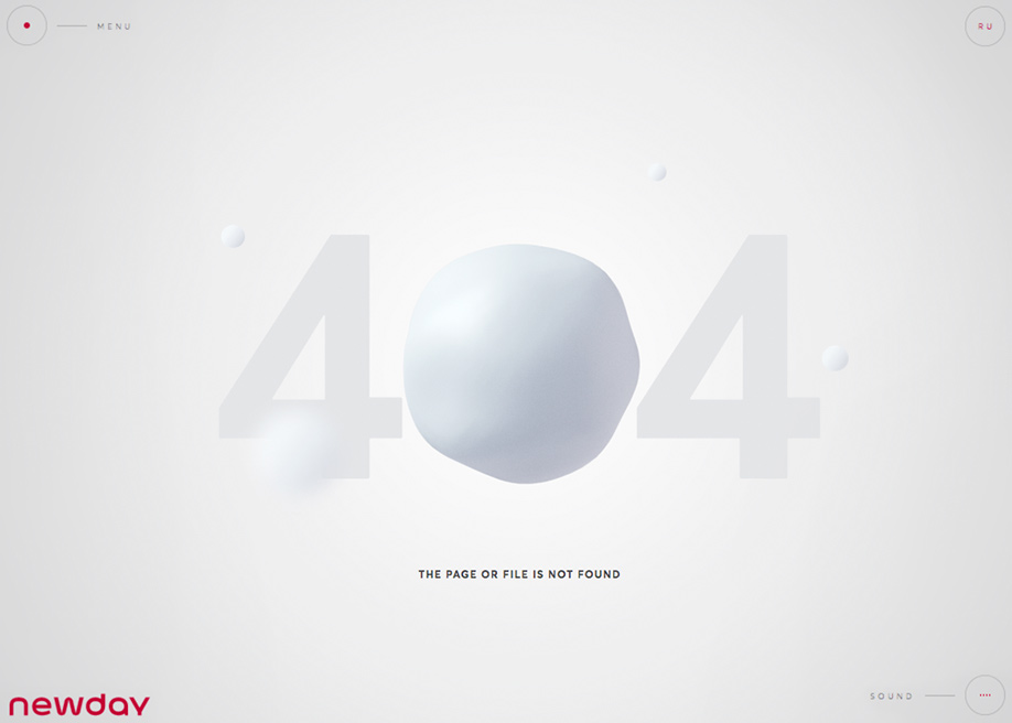 404 error page - Newday agency