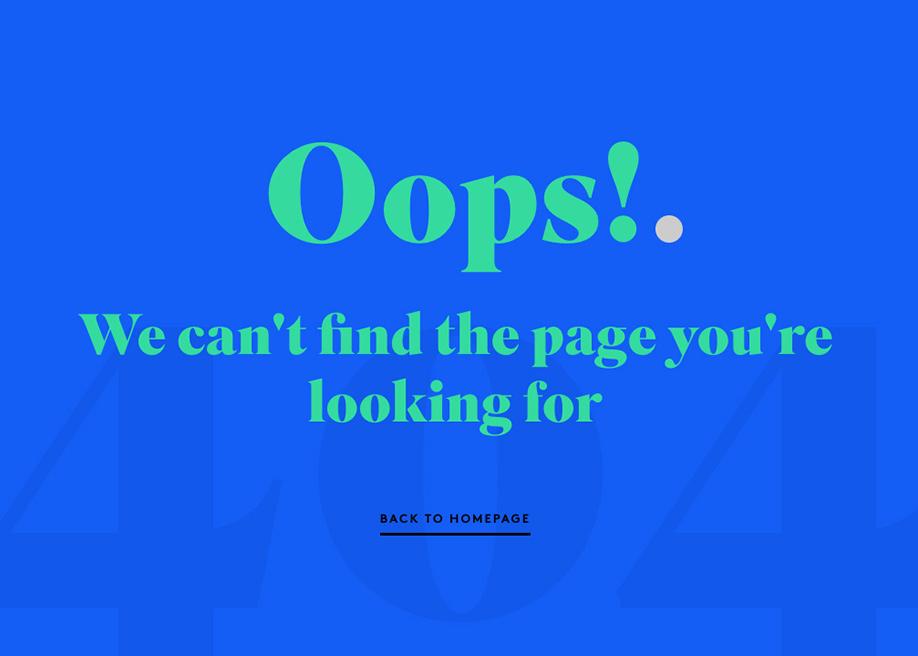 404 error page - D4R