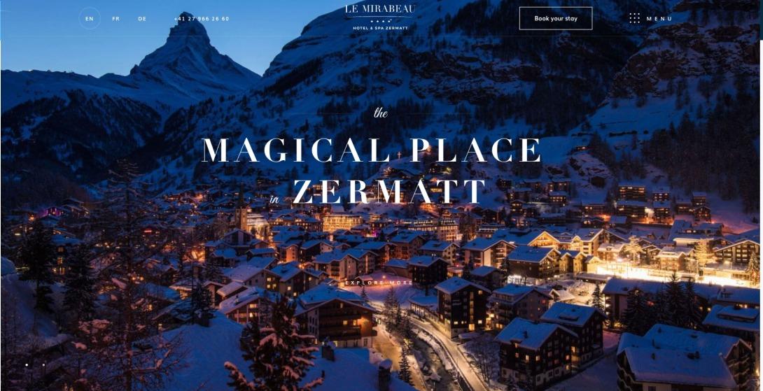 Le Mirabeau Hotel & Spa Zermatt  Magical Place In Zermatt