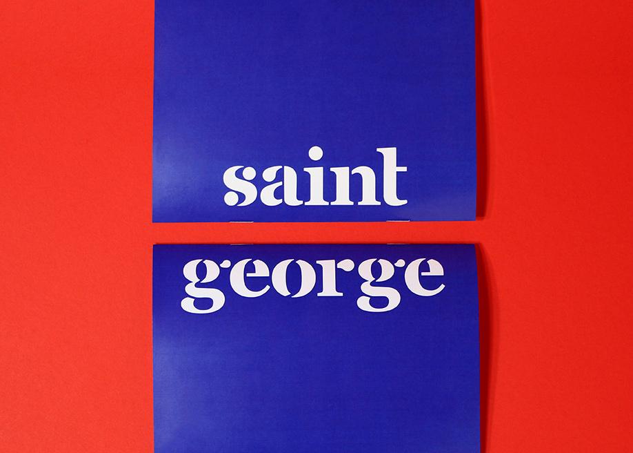 Saint George Stencil Font