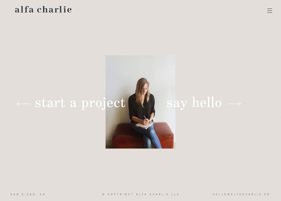 Contact page - Alfa Charlie