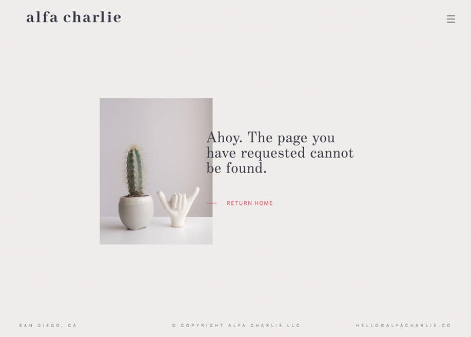 404 error page - Alfa Charlie