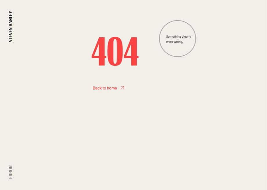 404 error page - Steven Hanley