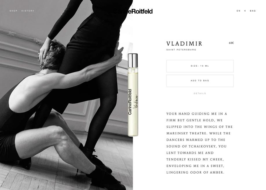 E-commerce product page - Carine Roitfeld