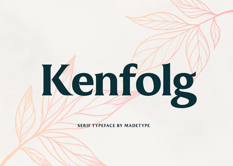 Kenfolg serif typeface