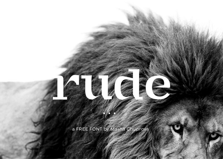 Rude free font