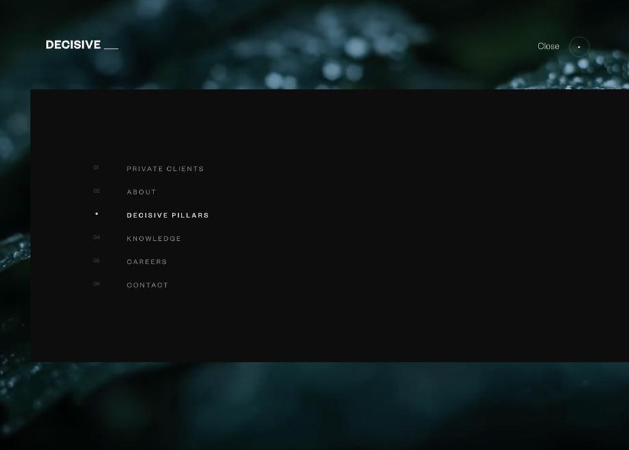 Overlay menu - Decisive
