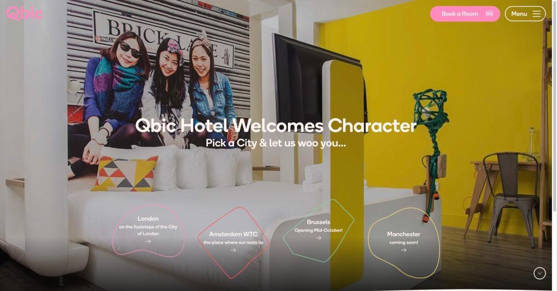 Design Hotels In London, Amsterdam, Brussels & Manchester | Qbic Hotels
