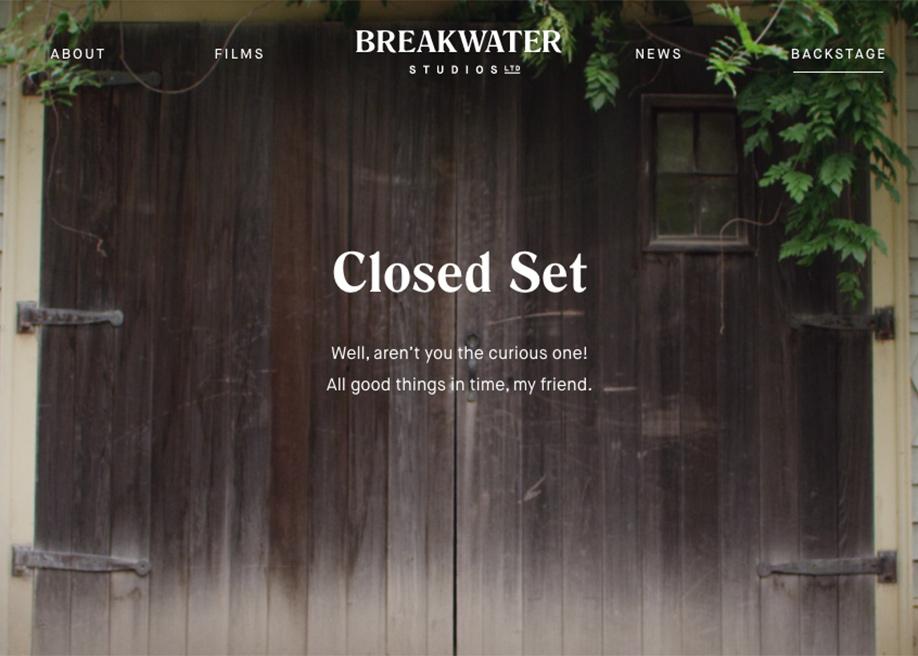 Breakwater backstage page