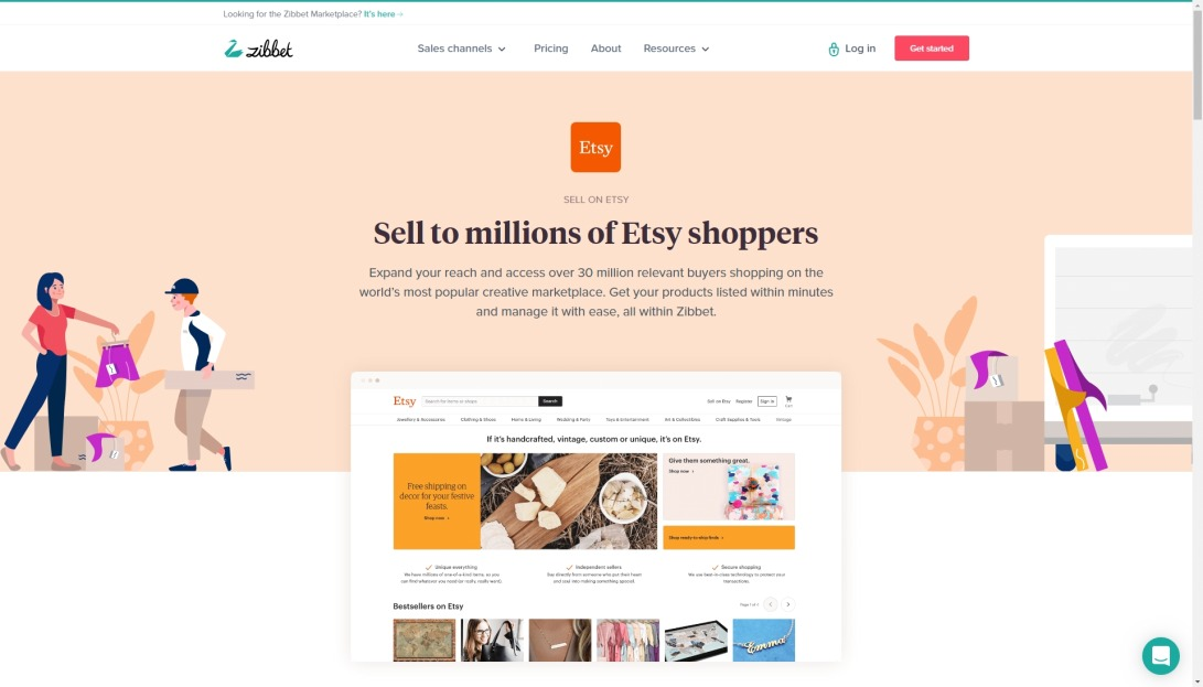 Sell on Etsy, with Zibbet